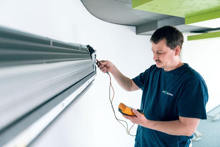 Klimaanlage Wartung Messung Werte